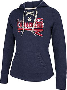 b66b368d2 Womens New York Rangers Reebok CCM Ribbon Lace-Up Hoodie Nhl Apparel
