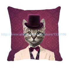 pas cher usa restauration anciennes voies m chat oreiller personnalis vintage coussin pour canap chaise - Coussin Color Pas Cher