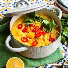 Hemsley + Hemsley healthy red lentil dhal recipe | 7 day eating plan - Red Online