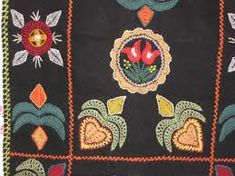 Bildresultat för rekipeitto Wool Embroidery, Embroidery Motifs, Scandinavian Embroidery, Viking Age, Finland, Textile Art, Folk Art, Textiles, Quilts