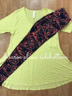 Perfect T paired with gorgeous floral LuLaRoe Leggings