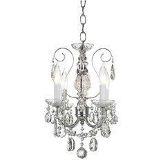 "Schonbek New Orleans Collection 12"" Crystal Mini Chandelier"
