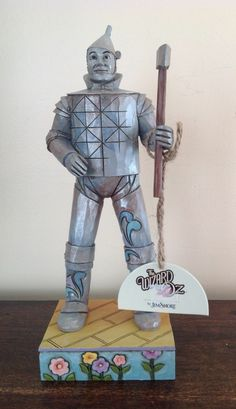 """Jim Shore Disney Traditions """"The Wizard of Oz - Tin Man"""" Wizard Of Oz Collectibles, Land Of Oz, The Worst Witch, Disney Traditions, Yellow Brick Road, Tin Man, Over The Rainbow, The Wiz, Great Movies"""