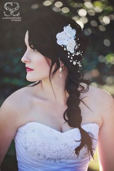 Messy braid and gorgeous hair accessory - perfect! {Wedding Dress} Eli from Olivelli Cape Town Bridal Boutique {Accessories - Hairpiece & Earrings} Hayley Goodrich Accesories {Hair & Make-up} Carey Ellis Hair and Make-up Braided Hairstyles, Wedding Hairstyles, Messy Braids, Bridal Shoot, Stunning Dresses, Hair Accessory, Bridal Boutique, Gorgeous Hair, Cape Town