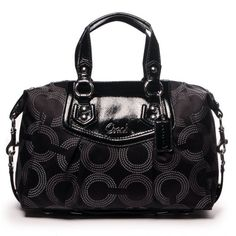 Coach Ashley Dotted Op Art Satchel Handbag Purse Better Product Adds For Any Home