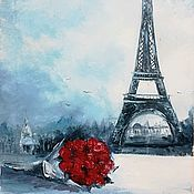 """Картины и панно ручной работы. Ярмарка Мастеров - ручная работа Картина маслом """"Отпуск в Париже."""". Handmade."""