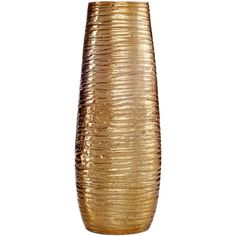 Simply Designz Decor Metallic Vase featuring polyvore, home, home decor, vases, decor, fillers, ornaments, metallic vase, bronze home decor and bronze vase