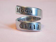 Moon Child Aluminum Ring - Gift Under 20