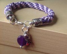 Purple & Lavender Braided Awareness by Hopelisa on Etsy