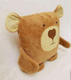 """Купить Игрушка -подушка"""" Мишка косолапый"""". Игрушка мишка. - песочный золотистый, коричневый, мишка игрушка"""