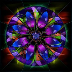 stained glass images | Stained Glass Flower Redux picture, by Stowsk for: mixed manipulations ...