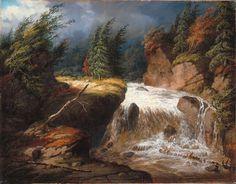 The Passing Storm, Saint-Ferréol, oil on canvas painting by Cornelius Krieghoff, National Gallery of Canada Canada Landscape, Landscape Art, Canadian Painters, Canadian Artists, Art Inuit, Ottawa, Cornelius, Winter Scenes, Van Gogh