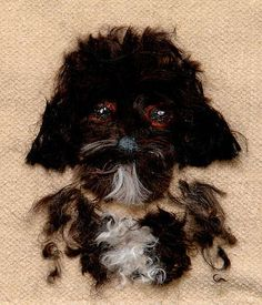 These Animal Portraits by Sue Wurzel Are Made from Dog Fur