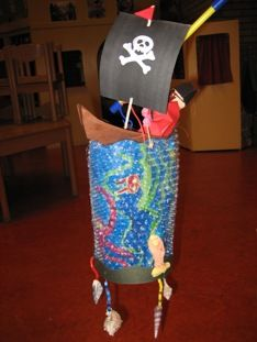 piratenboot lampion