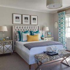Trellis Curtains, Contemporary, bedroom, Beach Glass Interior Designs