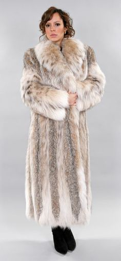 Fur Lynx Coat Full Length