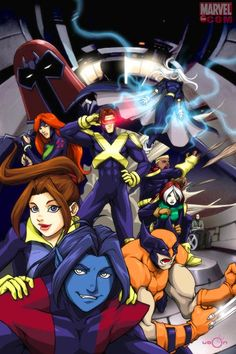 X-Men: Evolution. X-Men Animated Universe Marvel Comic Books, Comic Book Characters, Marvel Dc Comics, Marvel Heroes, Comic Books Art, Punisher Marvel, Ms Marvel, Captain Marvel, Comic Art