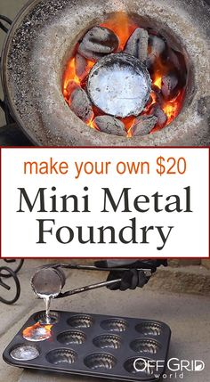 Melting Aluminum Cans With $20 Homemade Mini Metal Crucible - Off Grid World