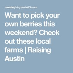 Want to pick your own berries this weekend? Check out these local farms | Raising Austin