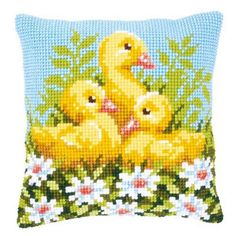 Vervaco® Ducklings with Daisies Pillow Cover Needlepoint Kit $34.99