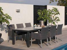 skandinavischer Stil Gartenstuhl Juno 2 Farben Grau oder Weiss