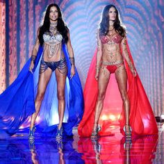 The complete evolution of the Victoria's Secret Fashion Show runway over the years in 19 photos: Adriana Lima and Alessandra Ambrosio, 2014