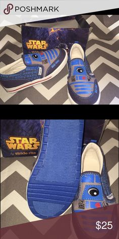 New size 10.5 toddler stride rite Star War slip on New size 10.5 toddler stride rite Star Wars slip on Stride Rite Shoes Sneakers