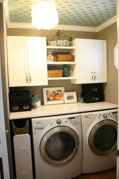 kitchen with laundry room | Luckily, we also have a shelf and rack behind the door where we can ...