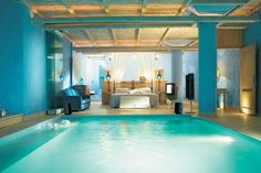 Luxury bedroom swimming pool