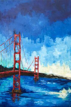 San Francisco Painting Golden gate bridge by NiksPaintGallery