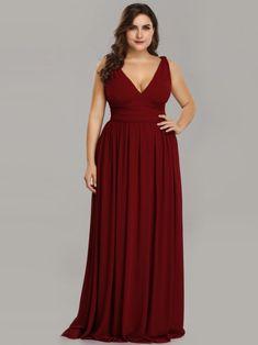 Sleeveless V-Neck Semi-Formal Maxi Dress 37f7e3b8c
