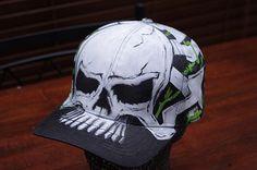 Custom skull hat http://www.facebook.com/awesome.airbrush www.alisonarts.com.au