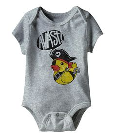 Look what I found on #zulily! Heather Gray 'Avast!' Pirate Ducky Bodysuit - Infant by American Classics #zulilyfinds