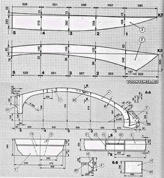 Конструкционные чертежи. Раскрой деталей лодки «Бриз-26»
