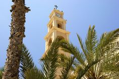 The Bell Tower of St. Peter's Church in Jaffa   Israel