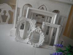 white picture frames shabby chic nursery decor par ShabbyRoad, $29.00