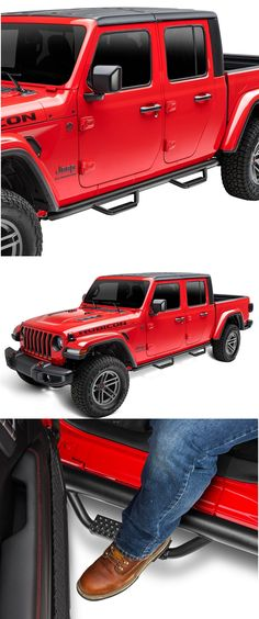 Check out our new Jeep Gladiator Nerf Bars; Spartan Style. Looks awesome! #jeep #jeepgladiator #jeeprunningboards #jeeptruck
