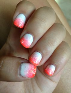 Faded gel nails
