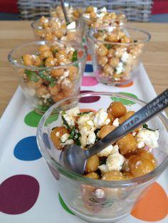 Salade de pois chiches grillés, feta et menthe - Roasted Chickpeas, feta and mint salad [Veggie]