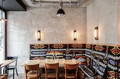 Löweneck Restaurant and Bar (Aztec Bench upholstery, corner)