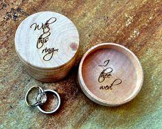 Personalized Ring Box Custom Engraved Wood Box by EngraveMeThis, $14.50