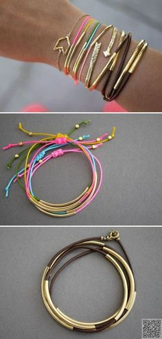 9. #Simple BRACELETS - 46 Easy DIY #Jewelry Tutorials for #Accessories Unique to…