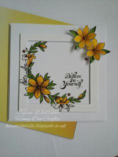 karenzkardz: Honey Doo Crafts Floral Crest stamp set