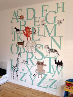 tapeta alfabet_naklejka_2x2,7m_pokój dziecka_OSITO (4102663945) - Allegro.pl - Więcej niż aukcje.