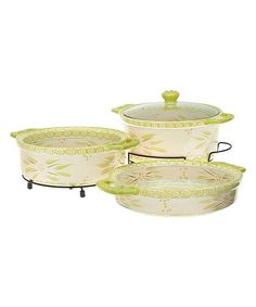 Look what I found on #zulily! Lime Old World Cook & Look Round Baker Set #zulilyfinds