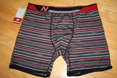 "NEW BALANCE Photoprint Compression Performance 5"" Boxer Brief NB Thin Stripe-L  #NewBalance #BoxerBrief #mens #underwear"