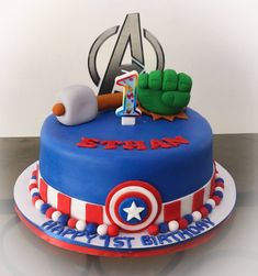 Shimmer And Shine Cake, Avengers Birthday Cakes, Superhero Cake, Fourth Birthday, Cool Inventions, Party Cakes, Baby Photos, Avenger Cake, Gabriel