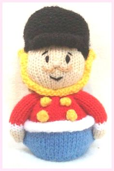 Big Ears inspired chocolate orange cover or 16 cms Noddy toy KNITTING PATTERN