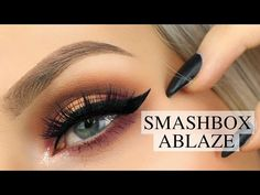 Todays video is using the new Smashbox Cover Shot Palette in Ablaze. Smashbox recently released 7 ama. Smashbox Cover Shot Palette, Smashbox Eyeshadow Palette, Eye Palette, Makeup Inspo, Beauty Makeup, Beauty Box, Makeup Ideas, Beauty Tips, So Hollywood Highlighter