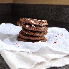 Chocolate Chunk Candy Cane Cookies